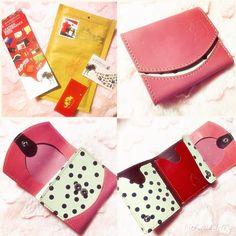 ついに購入してしまいました◡̈⃝︎⋆︎* * *  迷いに迷って#今日の小さいふ  に決めました♡ * *  世界で1つしかないお財布 * *  思ってたよりも小さくてビックリ‼️ * *  これから、小さい鞄を使う時には、お供について来てね◡̈❁ * *  #今日の小さいふ#小さいふ #quatrogats#100%JAPANESE LEATHER #世界に1つだけのお財布 #小さい鞄を使う時にはもってこい #大好きなピンク色#pink #大好きなドット #使うの楽しみ#いつデビューしてもらおうかなぁ?