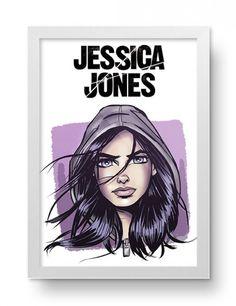 Poster com o tema da série Jessica Jones.