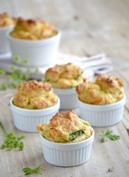 Zucchini muffins a delicious little starter to serve with a green salad