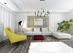 Living room in a private apartment  http://altrostudio.com.pl  http://www.facebook.com/biuro.altrostudio