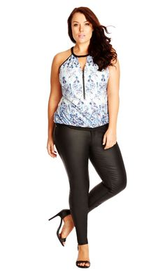 City Chic Super Sexy Wetlook Jeans - Women's Plus Size Fashion City Chic - City Chic Your Leading Plus Size Fashion Destination #citychic #citychiconline #newarrivals #plussize #plusfashion
