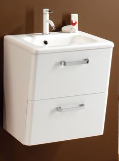 HIB Palamas Wall Hung Vanity Unit And Basin 500mm White