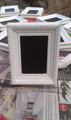 DIY chalkboard paint table numbers (pic heavy) :  wedding diy reception table numbers IMAG0416