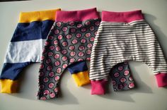 Babyhosen aus Altkleidern und Stoffresten / Baby's pants made from discarded clothes and scraps of fabric / Upcycling