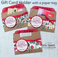 Kraft Paper Bag Gift Card Holder - Founder's Circle Swap by Patty Bennett