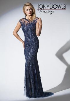 Stunning Beaded Evening Gown For The Youthful Mother Of Bride Or