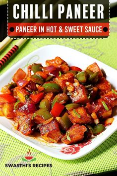 Chilli paneer recipe – A restaurant style paneer chilli dry, semi-dry & gravy recipes with video & step by step photos. Chilli paneer is a popular Indo-Chinese starter made by seasoning fried Indian cottage cheese aka paneer in chilli sauce. In this post I have shared 3 versions to make the recipe – dry, semi-dry and gravy. Indian Snacks, Indian Food Recipes, Vegetarian Recipes, Cooking Recipes, Ethnic Recipes, Paneer Recipe Video, Paneer Chilli Dry, Paneer Dishes, Paneer Tikka