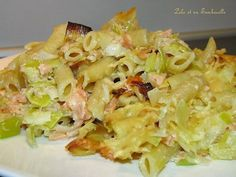 Gratin de pennes aux poireaux & saumon fumé Penne, Pasta, My Favorite Food, Favorite Recipes, Batch Cooking, Entrees, Potato Salad, Lolo, Cabbage