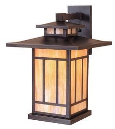 Arroyo Craftsman Mooreland Outdoor Wall Lantern Size: H x W x D, Color: Verdigris Patina, Shade Type: Amber Mica Outdoor Barn Lighting, Outdoor Wall Lantern, Outdoor Wall Sconce, Outdoor Walls, Cabin Lighting, Porch Lighting, Exterior Lighting, Craftsman Lighting, Craftsman Lamps