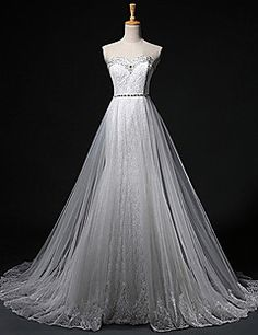 Sheath/Column Sweetheart Court Train Tulle Wedding Dress. Get unbelievable discounts up to 70% Off at Light in the box using Coupons.