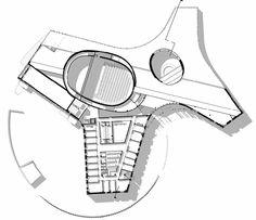 Guangzhou Opera House - Zaha Hadid Architects - 3rd floor plan