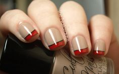 nude and red french by The Nailasaurus