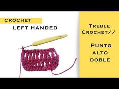 HOW TO TREBLE CROCHET FOR LEFT HANDED BEGINNERS//STEP BY STEP - YouTube How To Treble Crochet, Learn To Crochet, Ravelry, Left Handed Crochet, Crochet For Beginners, Free Pattern, The Creator, Make It Yourself, Youtube