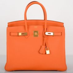 Hermès Orange Togo 35cm Birkin Bag