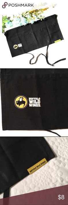 Buffalo Wild Wings black server waitress apron Black server apron from Buffalo Wild Wings. Great used condition, just a little wear on the logo (see 2nd pic) 🚫modeling 🚫trades. Save 15% with any bundle. Other