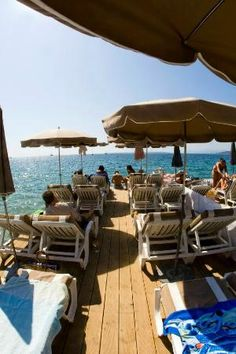 Lido, beach beds and restaurant in Antibes Antibes France, Lido Beach, Juan Les Pins, Beach Bedding, Restaurant, South Of France, Cannes, Provence, Trip Advisor