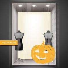 zucca che ride - vetrofania - halloween - realizzata in vinile prespaziato