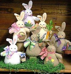 Cachos de Bunnies - feltro de lã, feltro Aplicada Campo Craft PADRÃO