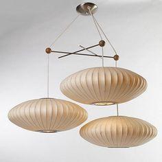 Bubble Hanging Lamp, Designed by William Renwick, Howard Miller Clock Company, 1948 Types Of Lighting, Cool Lighting, Modern Lighting, Lighting Design, Pendant Chandelier, Pendant Lighting, Dining Pendant, Deco, Retro Interior Design