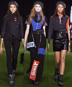 The New York Fashion Week Collections You Can Actually Afford  ---  Marc by Marc Jacobs  Graphic art prints were dispersed throughout the collection of skinny trousers, floor-length dresses and structured skirts that contributed to the girl-power vibe of the collection. They might not all be practical for everyday wear, but the fitted skirts and moto jackets are definite wardrobe staples.