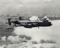 A Halifax B Mark II Series 1A (s/n LW235, EY-B) of No. 78 Squadron RAF based at RAF Breighton, Yorkshire (UK), in flight with triangular tail fins initially fitted to this version.                                                                                                                                                                                 Plus