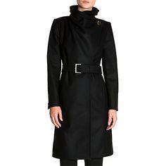 Buy Ted Baker Madigan Draped Front Coat Online at johnlewis.com