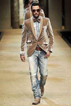Velvet Jacket + Bow tie + Denim = Swag | #justjune