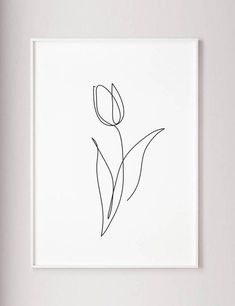 Flower Drawing Discover Tulip print Flower wall art Tulip one line art Abstract minimalist decor Line drawing Wabi sabi art Black and White wall art poster Black And White Wall Art, Black And White Drawing, Line Flower, Flower Art, Line Art Flowers, Flower Ideas, Flower Prints, Black Flowers, Cactus Flower