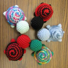 Tiny Striped Turtles ☺ Free Crochet Pattern ☺