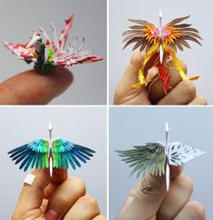 """itscolossal: """"Cristian Marianciuc Creates a New Decorated Origami Paper Crane Daily for 1,000 Days """" OMG they are unreal"""