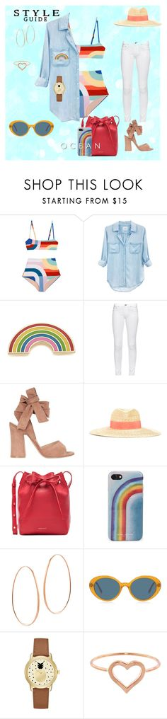 """Summer dream"" by alexandra-rataplan ❤ liked on Polyvore featuring Rails, Georgia Perry, rag & bone, Gianvito Rossi, Lanvin, Mansur Gavriel, Marc Jacobs, Lana, Oliver Peoples and Jessica Carlyle"