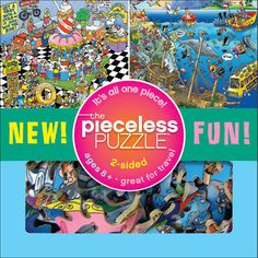 This revolutionary puzzle is unlike any other on earth. Made of soft flexible material, the Pieceless Puzzle is actually one continuous strand of interconnecting branches. Great for travel, fun for all ages, and best of all, there's no risk of losing any pieces!  $16.99  http://calendars.com/Assorted-Jigsaw-Puzzles/Tooniverse-Pieceless-Jigsaw-Puzzle/prod200800013131/?categoryId=cat490008=cat490008#