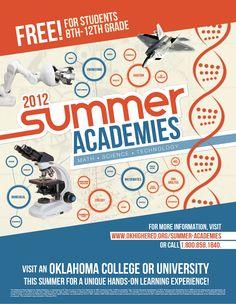 "A Rigo Design Poster designed for Oklahoma State Regents for Higher Education, ""Summer Academies"""