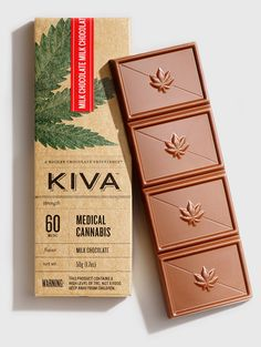 Gourmet Weed-Infused Chocolates Use Artful Packaging To Change Cannabis' Image - DesignTAXI. Candy Packaging, Chocolate Packaging, Paper Packaging, Coffee Packaging, Bottle Packaging, Chocolate Brands, Chocolate Lovers, Artisan Chocolate, Food Packaging Design