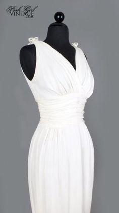 1950 s Marilyn Monroe Style White Sexy Dress - M 50 s VINTAGE WEDDING  amp   BRIDAL DRESSES 9469b3863e239