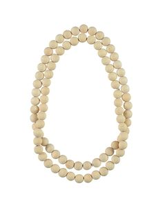 Beaded Wooden Necklace 2-piece