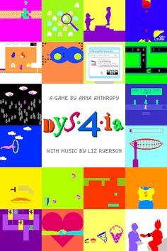 """Dys4ia, """"An autobiographical game about my experiences as a trans woman undergoing hormone replacement therapy"""" from auntie pixelante, free to play on newgrounds."""