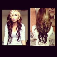 this is what i would want if i ever dyed most of my hair a darker color. SO gorgeous.