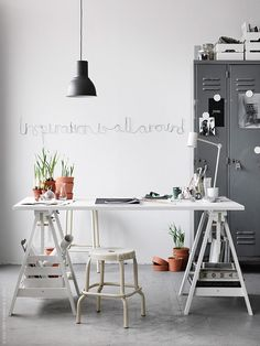 White & grey office