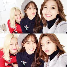 Girls generation´s hyoyeon, yuri y sooyoung