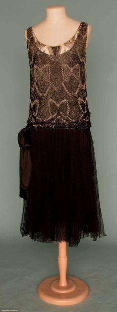 Worth Beaded Dance Dress, Paris, C. 1930