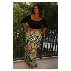 Plus Size Animal Print Maxi Skirt - Cori Coren Boutique