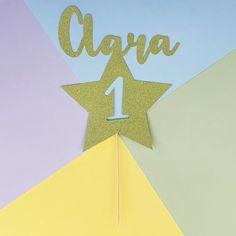 Personalised 1st birthday cake topper Glitter star ANY AGE   Etsy 1st Birthday Cake Topper, First Birthday Cakes, Special Birthday, Boy Birthday, Milestone Birthdays, First Birthdays, Handmade Baby, Handmade Cards, Handmade Items