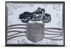 VIDEO: Chrome-tastic Motorcycle Card from One Wild Ride (Stamp With Tami)