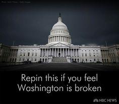 Repin this if you feel Washington is broken