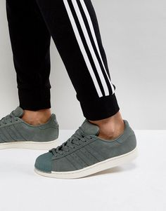 best service 1ce20 68551 adidas Originals Superstar Sneakers In Green BZ0200