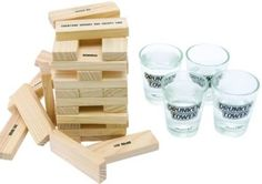 Kitchen, Dining & Bar Brown Game Night Tipsy Tower Shot Glass Drinking Game Set Other Bar Tools & Accessories