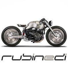 BMW R nineT Custom by Rubinedi design Bmw Cafe Racer, Moto Cafe, Cafe Bike, Bobber Custom, Custom Bmw, Custom Cafe Racer, Custom Bikes, Bike Bmw, Cool Motorcycles