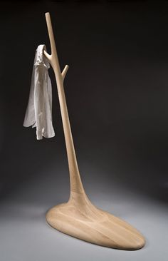 Korean designer Kwon Jae Min has created a series of wooden pieces that include benches, lighting and coat racks.