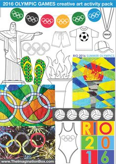 Kids Rio Olympic Games 2016 Bumper Art by ImaginationBoxStore